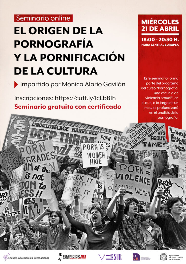 Cartel Seminario El origen de la Pornografía