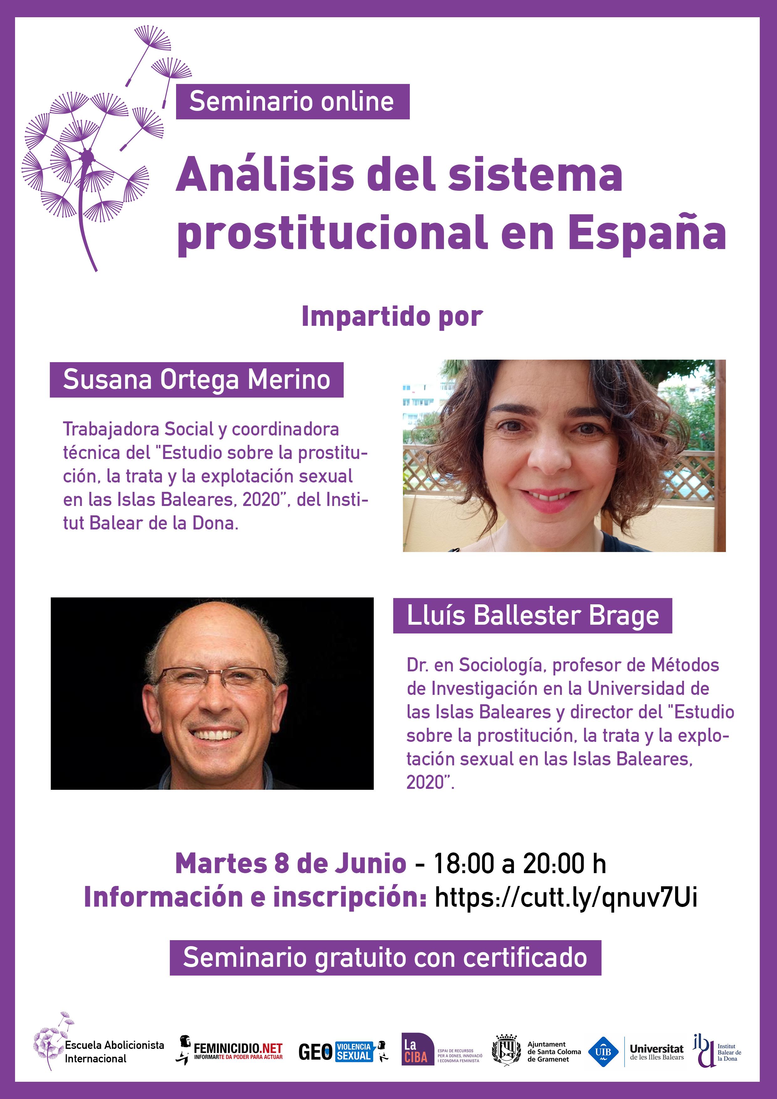 Seminario Análisis del sistema prostitucional en España