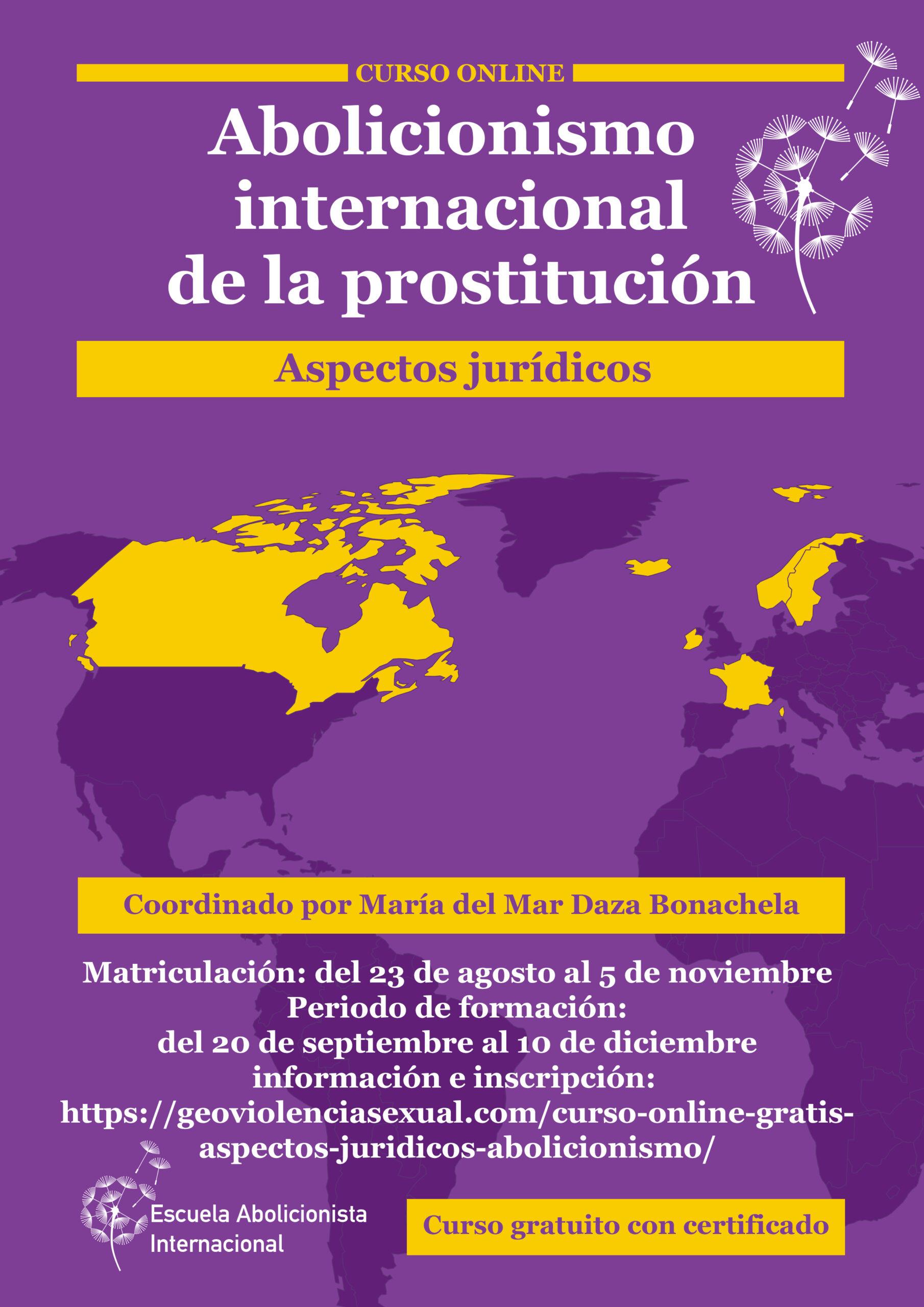 Curso online sobre abolicionismo internacional