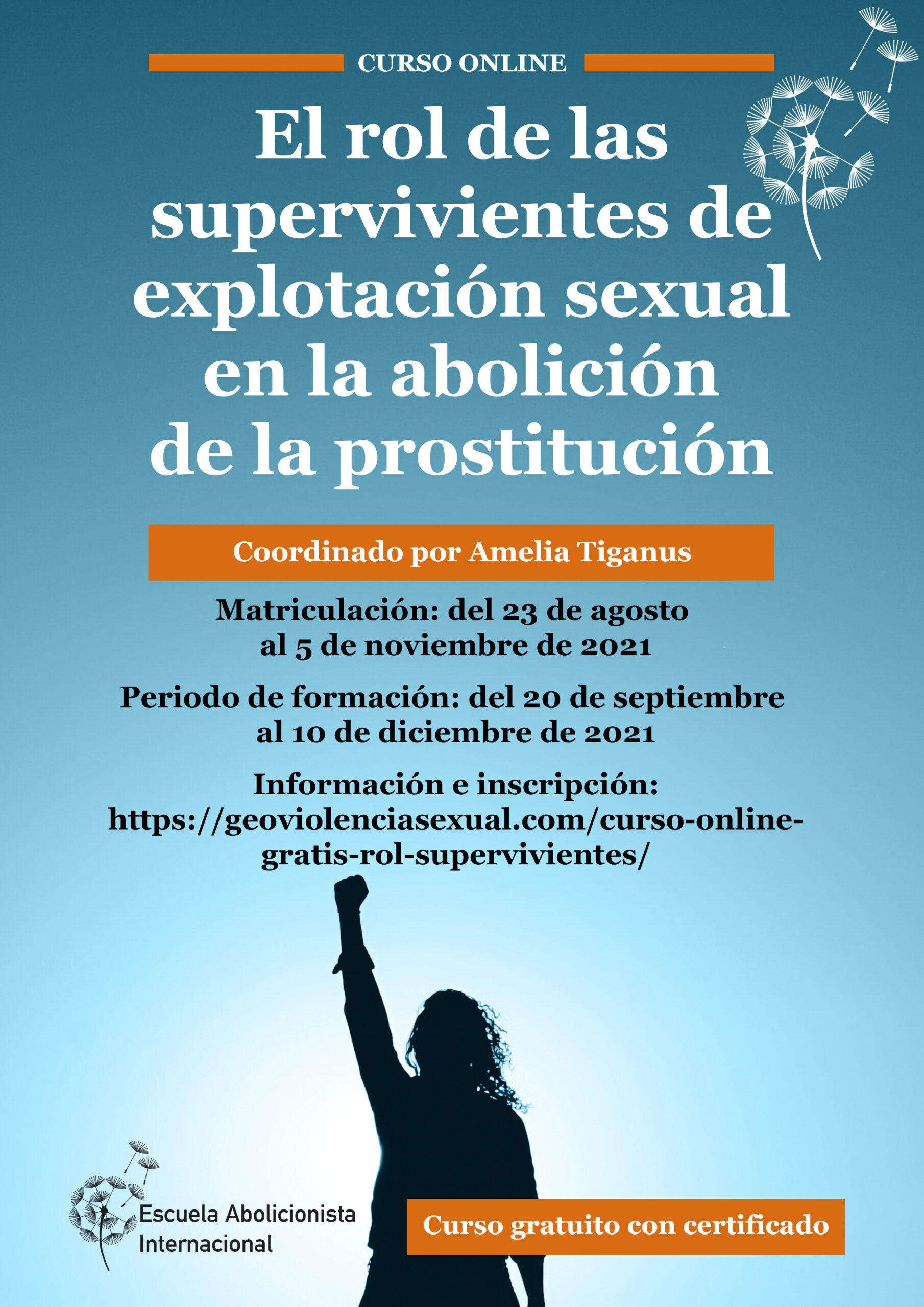Curso Online Gratuito: El rol de las supervivientes de explotación sexual en la abolición de la prostitución