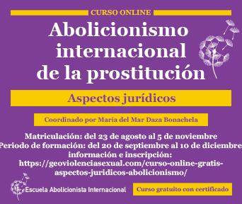 Abolicionismo internacional de la prostitución. Aspectos jurídicos.